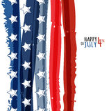 Szczęśliwy 4th Lipiec, usa dzień niepodległości Wektorowy abstrakcjonistyczny grunge Fotografia Stock