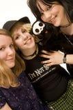 szczęśliwy trzy młode dziewczyny Zdjęcie Stock