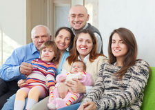Szczęśliwy trzy pokolenia rodzinnego Obrazy Stock