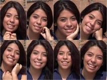 Szczęśliwy Uśmiechnięty Żeński kolaż fotografia stock