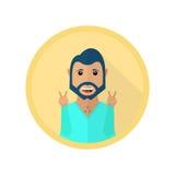 Szczęśliwy uśmiechnięty mężczyzna pokazuje pokoju znaka Obraz Stock