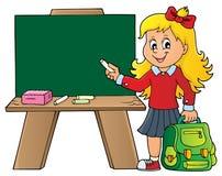 Szczęśliwy uczeń dziewczyny tematu wizerunek 8 Fotografia Royalty Free