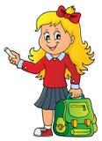 Szczęśliwy uczeń dziewczyny tematu wizerunek 7 Zdjęcia Royalty Free