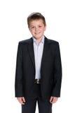 Szczęśliwy uczeń w kostiumu fotografia royalty free