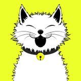Szczęśliwy Uroczy kot meowing obraz stock