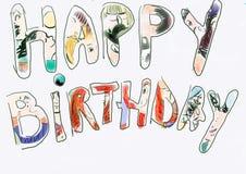 szczęśliwy urodziny. obraz stock