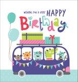szczęśliwy urodziny royalty ilustracja