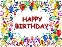 szczęśliwy urodziny plakat Fotografia Royalty Free