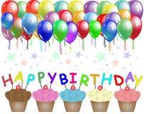 szczęśliwy urodziny plakat Zdjęcie Royalty Free