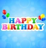 szczęśliwy urodziny tło Zdjęcie Stock