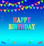 szczęśliwy urodziny tło Fotografia Stock