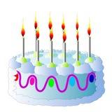 szczęśliwy urodziny Tort Zdjęcia Royalty Free