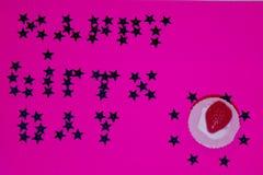 szczęśliwy urodziny Tort Fotografia Stock
