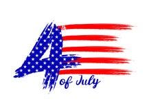 Szczęśliwy usa dnia niepodległości 4 th Lipiec Zdjęcie Royalty Free