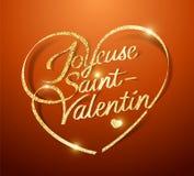Szczęśliwy Valentine's dzień w Francuskim: Joyeuse święty ilustracji