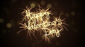 Szczęśliwy valentine dnia sparkler animaci kopyto_szewski 5s loopable 4k (4096x2304) zdjęcie wideo