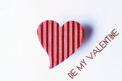 Szczęśliwy valentine papieru serce Obrazy Royalty Free