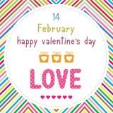 Szczęśliwy valentine s dzień card15 Fotografia Stock