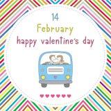 Szczęśliwy valentine s dzień card16 Zdjęcia Royalty Free