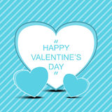 Szczęśliwy valentine ` s dzień z potrójnym serca tłem ilustracja wektor