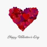 Szczęśliwy valentines dnia wektor z sercami Zdjęcie Royalty Free