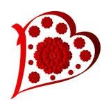 Szczęśliwy valentines dzień, wektor karta royalty ilustracja
