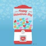 Szczęśliwy valentines dzień z gumball maszyną Obrazy Royalty Free