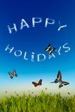 Szczęśliwy wakacje kartka z pozdrowieniami Zdjęcia Royalty Free