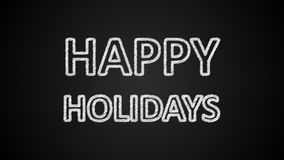 Szczęśliwy wakacje tekst, 3d rendering, komputerowy wytwarzać, może używać dla wakacje świątecznego projekta ilustracji