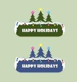 Szczęśliwy wakacje znak Obraz Royalty Free