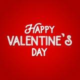 Szczęśliwy walentynka dnia literowania tło, romantyczna karta Wektorowy miłość plakat Walentynka loga elementy dla twój karcianeg Obrazy Stock