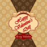 Szczęśliwy walentynka dnia tło z Był mój valentine tekstem Fotografia Royalty Free