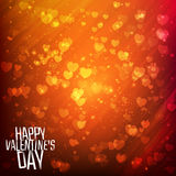 Szczęśliwy walentynka dnia tło z jaśnieniem Fotografia Royalty Free