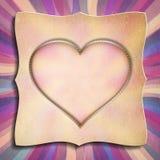 Szczęśliwy walentynka dzień - kartka z pozdrowieniami szablon Obrazy Stock