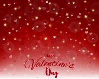 Szczęśliwy walentynki ` s dzień, tekstura na czerwonym tle, projekt z tekstem dla kartka z pozdrowieniami, plakat lub zaproszenie Obraz Stock