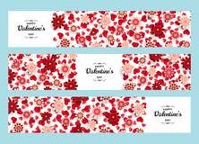 Szczęśliwy walentynki tło Dobry projekta szablon dla sztandaru, kartka z pozdrowieniami, ulotka Papierowi sztuka kwiaty, serca i Zdjęcia Stock