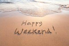 szczęśliwy weekend zdjęcia stock