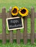 Szczęśliwy weekendowy chalkboard zdjęcia royalty free