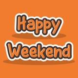 Szczęśliwy Weekendowy literowanie typografii plakat ilustracja wektor