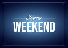 Szczęśliwy Weekendowy wycena tekst ilustracja wektor