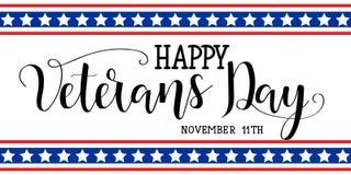 Szczęśliwy weterana dzień Listopad 11th, Zlany stan Ameryka Obrazy Royalty Free
