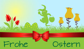 Szczęśliwy Wielkanocny dekoracja wektor Obraz Royalty Free