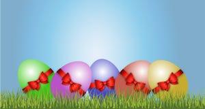 Szczęśliwy Wielkanocny dekoracja wektor Zdjęcia Royalty Free