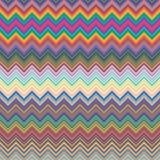 Szczęśliwy Wielkanocny dzień na kolorowym wektorowym projekcie Kolorowy szewronu wzór dla jajek Kolorowy szewronu wzoru tło Fotografia Royalty Free