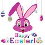 Szczęśliwy Wielkanocny dzień z zwierzęciem dla jajka odizolowywającego na białym tle Obrazy Royalty Free