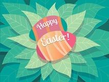 Szczęśliwy Wielkanocny kartka z pozdrowieniami obrazy royalty free