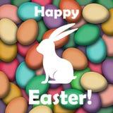Szczęśliwy Wielkanocny kartka z pozdrowieniami Fotografia Stock