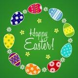 Szczęśliwy Wielkanocny kartka z pozdrowieniami Obrazy Stock