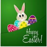 Szczęśliwy Wielkanocny kartka z pozdrowieniami Zdjęcia Stock
