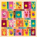 Szczęśliwy Wielkanocny kartka z pozdrowieniami ilustracji